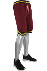 Solid Taping Mesh Shorts Burgundy (191-920)
