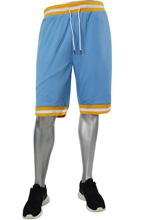 Solid Taping Mesh Shorts Sky Blue (191-920)