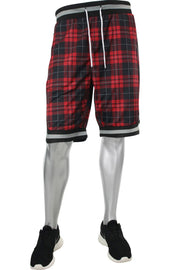 Plaid Mesh Shorts Red (191-922 22S)