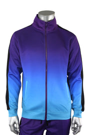 Dip Dye Full-Zip Track Jacket Purple (1A1-503) - Zamage
