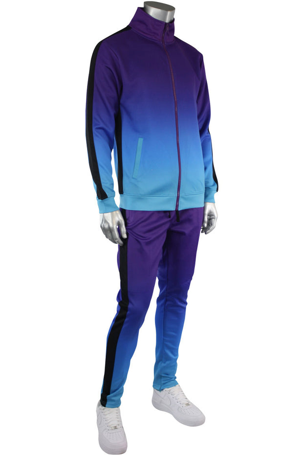 Dip Dye Track Pants Purple (1A1-403) - Zamage
