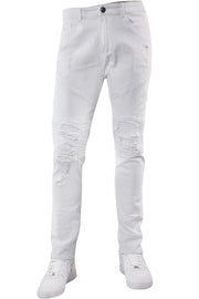 Premium Destroyed Skinny Fit Denim White (M4661T) - Zamage