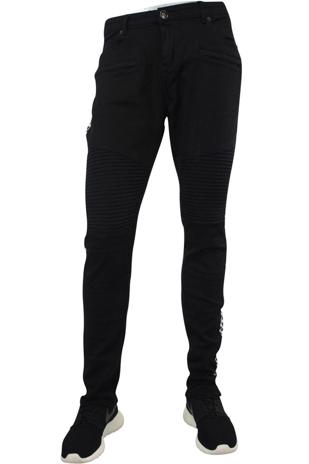 Racing Moto Skinny Denim Black (RUM4427T)