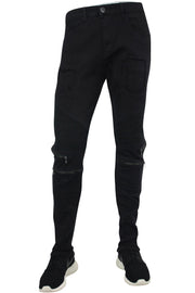 Stitched Skinny Fit Pocket Denim Black (M4390TA)