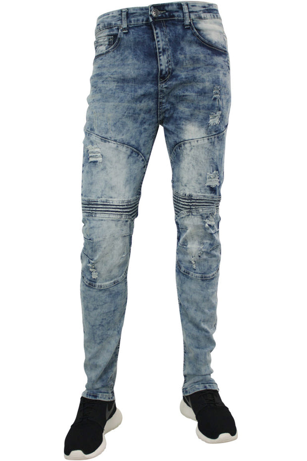 Moto Skinny Fit Denim Medium Blue (M4585DB)