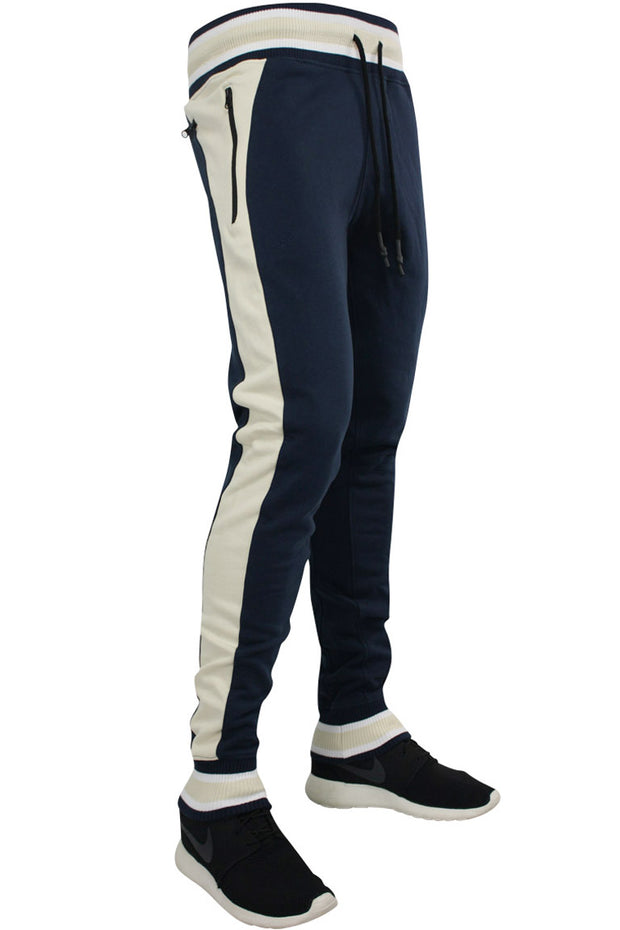 Jordan Craig Side Stripe Track Jogger Navy - Bone (8327 22S) - Zamage