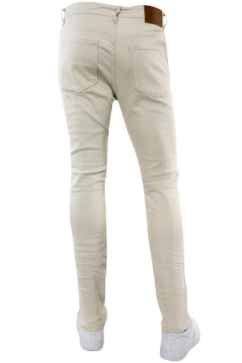 Skinny Fit Baked Ripped Denim Bone (M5061T) - Zamage