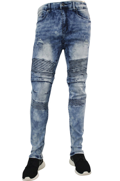 Moto Skinny Fit Denim Blue Acid Wash (M4580DA)
