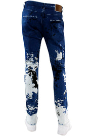 Skinny Fit Denim Blue-White (M5143D) - Zamage