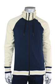 Jordan Craig Color Block Track Hoodie Navy - Bone (8327H 22S) - Zamage