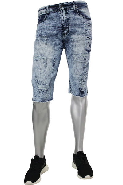 Denim Shorts Acid Wash (M7163D) - Zamage