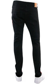 Moto Skinny Fit Denim Black - Red (M5059D) - Zamage