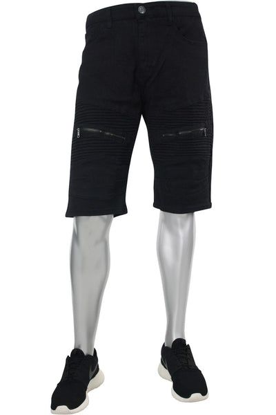 Denim Shorts Black (M7157T) - Zamage
