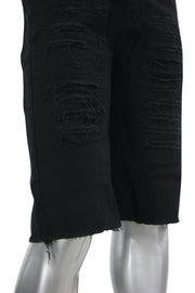 Denim Shorts Black (M7072T) - Zamage