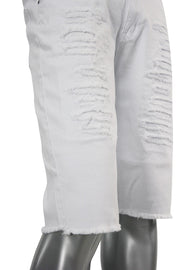 Denim Shorts White (M7072T) - Zamage