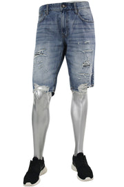 Jordan Craig Shredded Denim Shorts Aged Wash (J6104S 22S)