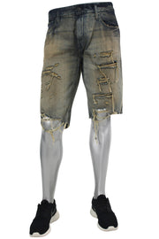 Jordan Craig Shredded Denim Shorts Copper Wash (J6104S 22S)