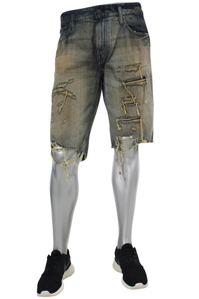 4ba7a11eca8466 Jordan Craig Shredded Denim Shorts Copper Wash (J6104S 22S)