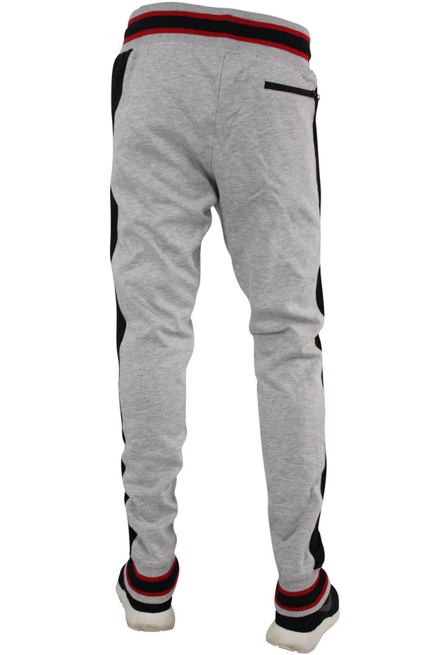 Jordan Craig Side Stripe Track Jogger Grey - Black (8327 22S) - Zamage