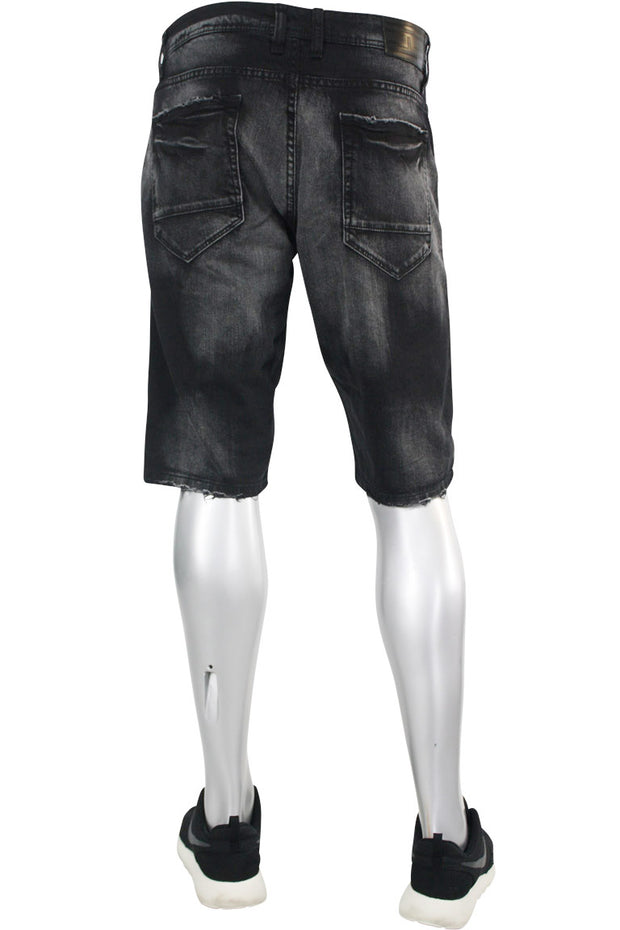 Jordan Craig Denim Shorts Black (J3134S 22S) - Zamage