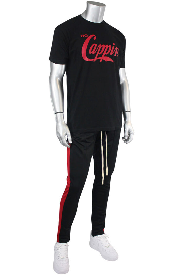 No Cappin Tee Black - Red (NOCAPPIN)