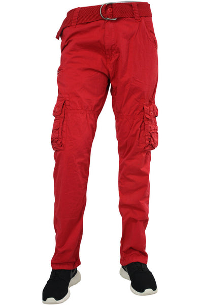 Jordan Craig Casual Cargo Pants Red (5322 22S) - Zamage