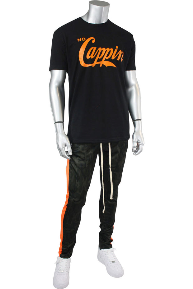No Cappin Tee Black - Orange (NOCAPPIN)