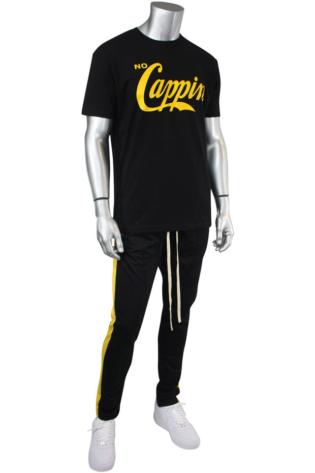No Cappin Tee Black - Yellow (NOCAPPIN)