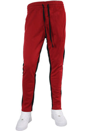 Pique Dual Stripe Track Pants Red - Black (1220)