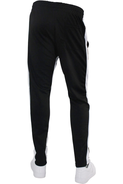 Pique Dual Stripe Track Pants Black - White (1220)