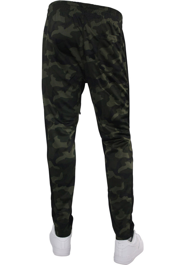 Pique Dual Stripe Track Pants Woodland - Black (1220M)