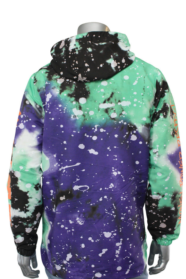 All Over Paint Splatter Windbreaker Purple (1A1-501) - Zamage