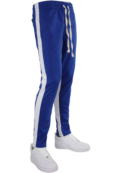 Pique Dual Stripe Track Pants Royal Blue - White (1220)