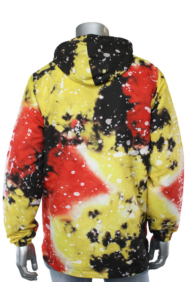 All Over Paint Splatter Windbreaker Black (1A1-501) - Zamage