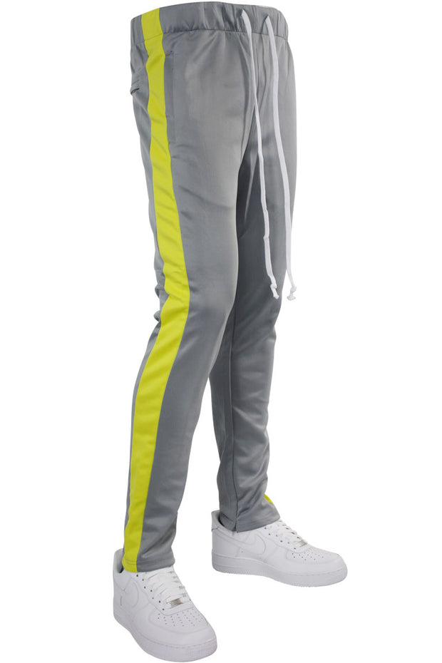 Side Stripe Zip Pocket Tricot Tracks Grey - Voltage (MK7753)