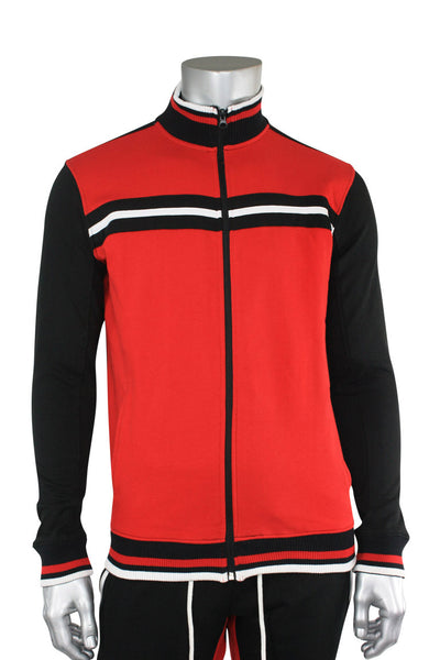 Jordan Craig Fleece Bomber Jacket Red - Black (8325T 22S) - Zamage