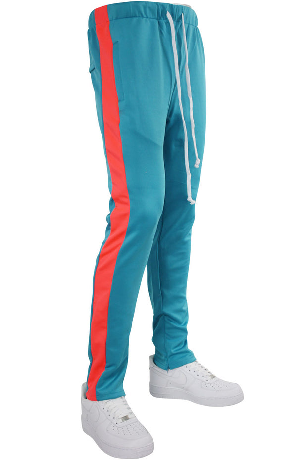 Side Stripe Zip Pocket Tricot Tracks Teal - Solar (MK7753)