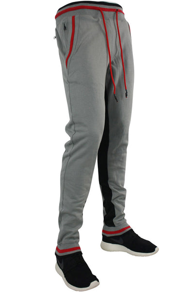 Jordan Craig Striped Fleece Joggers Black - Grey (8325 22S) - Zamage