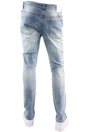 Standard Fade Skinny Fit Denim Blue Wash (HZW4848 22S) - Zamage