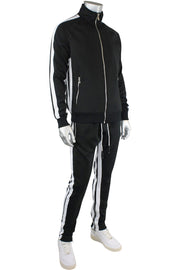 Jordan Craig Dual Stripe Track Pants Black - White (8333 22S) - Zamage