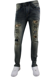 Moto Skinny Fit Denim Vintage Wash (M5010D) - Zamage