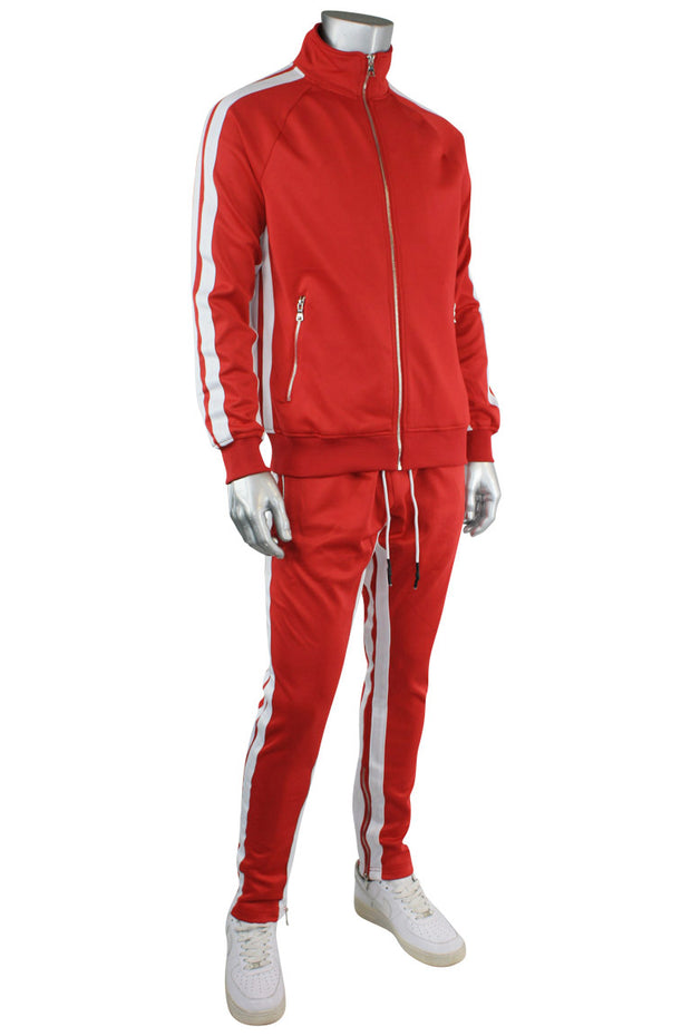 Jordan Craig Dual Stripe Track Jacket Red - White (8333T 22S) - Zamage