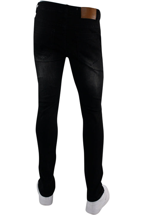 Moto Skinny Fit Denim Black Wash (M5010D) - Zamage
