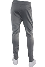 Solid One Stripe Track Pants Cool Grey (100-401) - Zamage