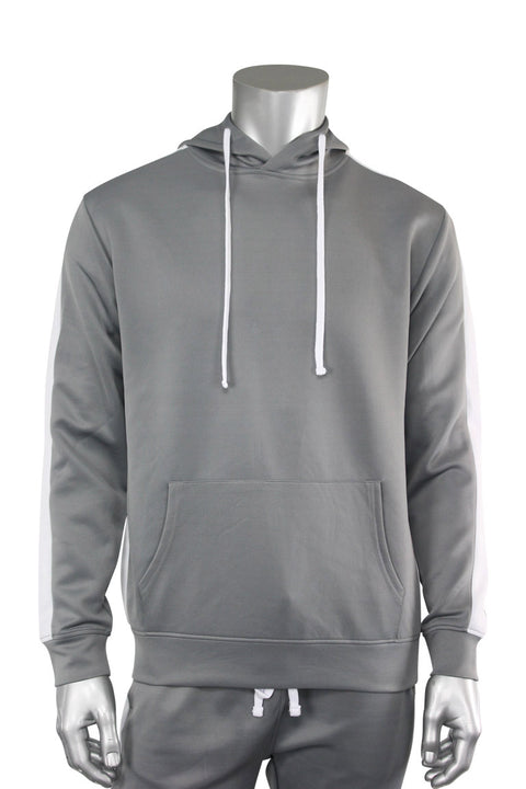 Pullover Track Hoodie Cool Grey (100-301) - Zamage