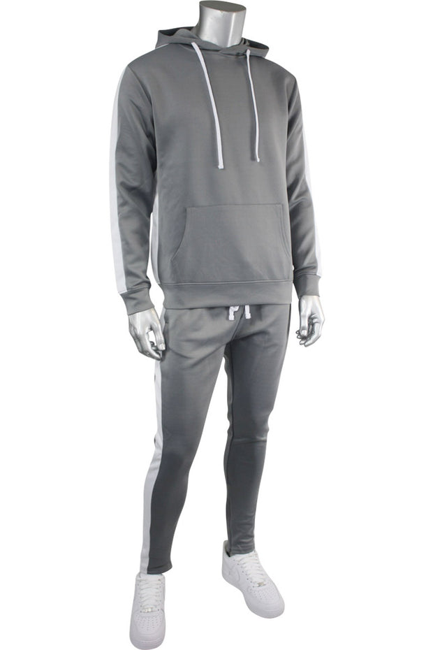 Pullover Track Hoodie Cool Grey (100-301)