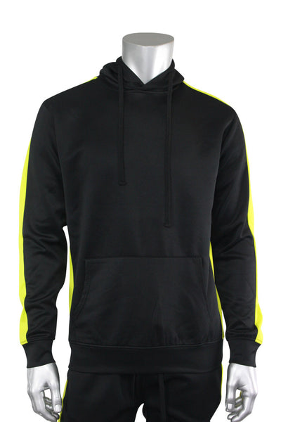 Pullover Track Hoodie Black - Lime (100-301) - Zamage