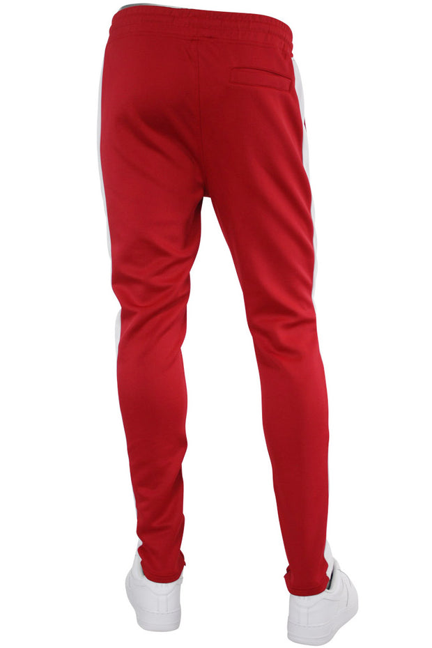 Solid One Stripe Track Pants Red (100-401) - Zamage