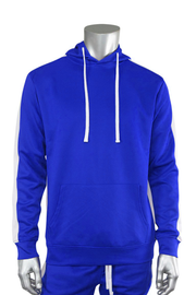 Pullover Track Hoodie Royal - White (100-301) - Zamage