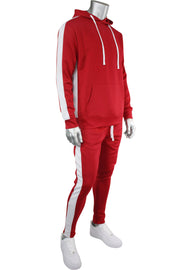 Solid One Stripe Track Pants Red (100-401)